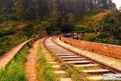 The bridge was built at Gotuwala between the Ella and Demodara stations during the British Colonial period. Locally it is known as 'Ahas Namaye Palama' meaning nine skies bridge in Sinhala.